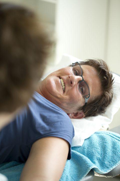 Patientin wird behandelt